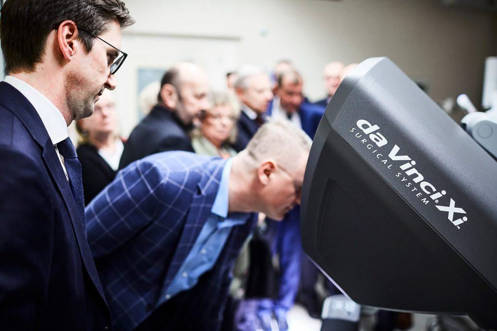 Robot da Vinci Szpital na Klinach