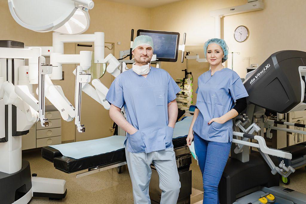 Szpital na Klinach da vinci robot