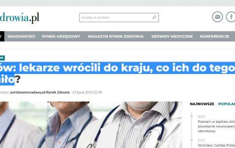 Kraków lekarze wrócili do kraju, co ich do tego skłoniło