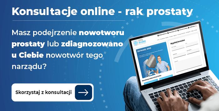 Konsultacje lekarskie online z zakresu raka prostaty konsultacji udziela dr Paweł Wisz