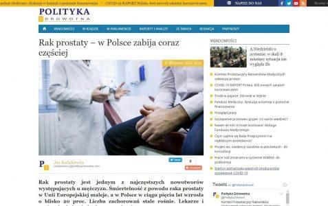 Rak prostaty – w Polsce zabija coraz częściej