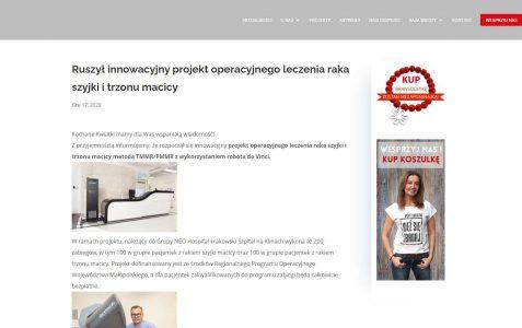 Ruszył innowacyjny projekt operacyjnego leczenia raka szyjki i trzonu macicy